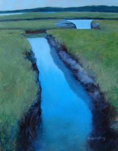 Cape Cod Marsh, oil-copper, 14 x 11