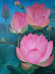 Lotus Dreams oil on canvas
