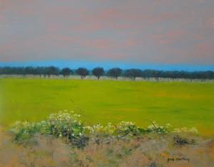 Sardis Church Road Field, oil-copper, 16 x 20