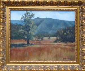 Smokey Mountain Meadow, 11 x 14, oil-canvas, framed