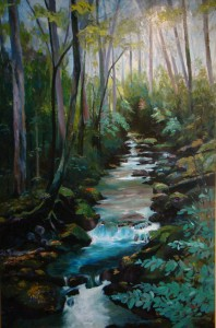 Smokey Mountain Stream, oil-canvas, 6ft x 4ft
