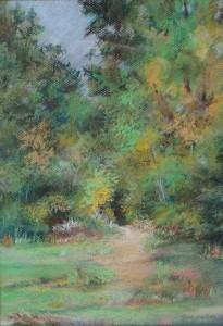 Spring Surreal, 22 x18, pastel, matted & framed