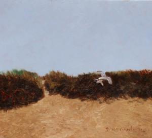 Hermit Island Exodus, oil on copper, 8 x 7