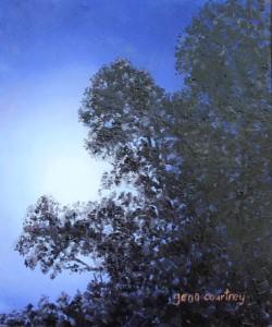 Supermoon through the Treesoil on copper6 x 7