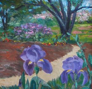 Garden Path oil, on canvas, 24 x 24, framed