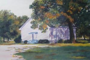 Sardis Primitive Baptist Church 14 x 18, watercolor