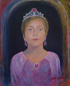 Sweetheart Princess oil on canvas, 16 x 20