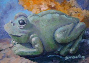 Frog #2 oil on copper,  8 x 5