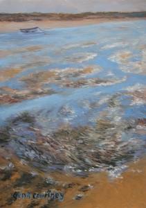 Tidal Drift oil on copper, 5 x 7